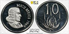1969 South Africa 10 Cents | PCGS PR67DCAM
