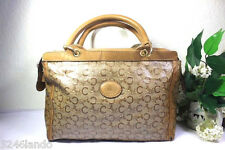 Vintage CELINE Paris Coated Canvas Horse Carriege Speedy Doctor Handbag Bag