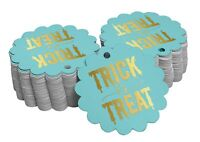 Inkdotpot Pack Of 100 Trick Or Treat Halloween Favor Paper Tags-Csw