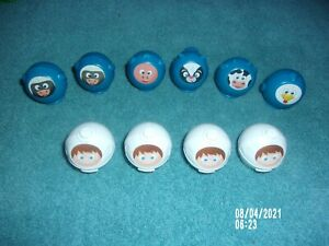 UNO MOO REPLACEMENT PART LOT OF 10 SIX ARE ALL (6) BLUE ANIMALS & (4) WHITE ORBS