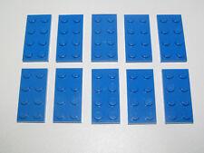 Lego ® Lot x10 Plaques Double Bleu 2x4 Plate Blue ref 3020 NEW