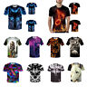 Fashion Men Casual T-Shirt 3D Funny Print Wolf Short Sleeve Tops Tee Hot Sale