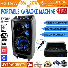 Portable Karaoke Machine Home Audio Bluetooth Speaker System Wireless Microphone