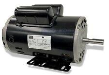 5 Hp Spl 1ph Air Compressor Electric Motor 56 Frame 58 Shaft 3450 Rpm 15amp