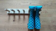 Wellington Boot rack/welly rack, 3 pair, wall mounted, riding,fashion,tools,shed