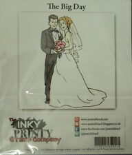 Beautiful Clear Polymer Stamp * The Big Day * 115mm x 80mm  for cards or crafts