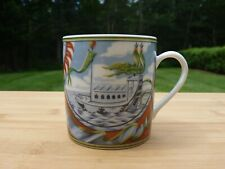 "Vintage Hermes Porcelain Demitasse ""Patch Work"" Collector Edition"