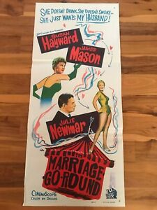 Original Movie Poster 13x30: The Marriage Go Round (1961) Susan Hayward