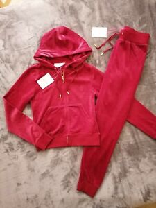JUICY COUTURE Tracksuit Set Zip Hoodie - size M & Joggers size L NEW with tags