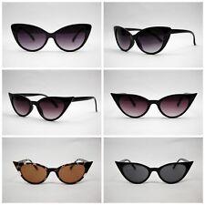 VTG 50s/60s Style womens Cat Eye Sunglasses Retro Rockabilly Glasses clear lens