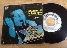 45 tours Espagne Gary Glitter Hello ! Hello ! I'm back again 1973 EXC/VG