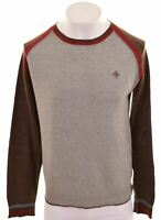 PEPE JEANS Mens Crew Neck Jumper Sweater Large Grey Cotton  CT08