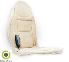 Car Seat Neck Back Massage Soft Cream Mat Relax Heated Vibration Chair Medivon