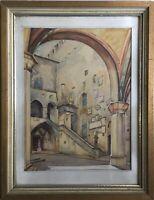 ERICH HINZ 1908 PALAZZO PRETORIO FLORENZ - BERLIN MITTE MUSEUM VERTRETEN