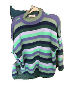 United Colors of Benetton Sweater Pullover Italy Size 44 Large Vintage