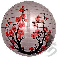 PL101: 14'' Chinese Japanese Paper Lantern Brand new Plum Tree Cherry Blossom