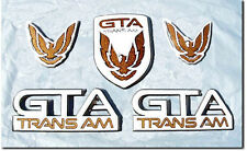 NEW 87-90 GTA Trans Am Emblem 5pc Set (WHITE)