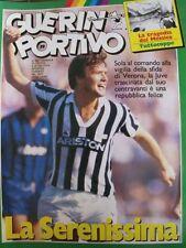 GUERIN SPORTIVO=N°39 1985=MAXIPOSTER=LARISSA-SAMP 1-1=VERONA-PAOK 3-1=TORINO-PAN