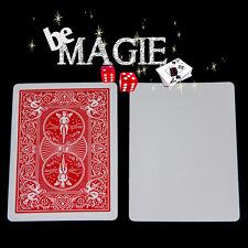 Carte Spéciale Bicycle - dos Rouge / face Blanche - Tour de magie