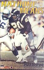 1995 Natrone Means San Diego Chargers Original Starline Poster