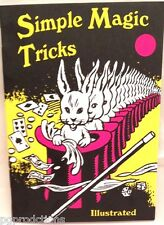 SS ADAMS SIMPLE MAGIC TRICKS BOOK Booklet 60 Beginner Magician Retro Card Coin