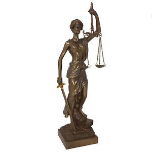Dekofigur Justitia bronziert - Dekoration Anwalt