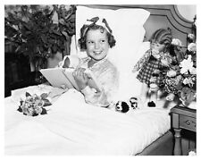 SHIRLEY TEMPLE promo still with dolls in bed -- (b852)