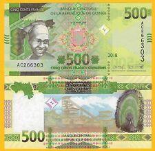 Guinea 500 Francs p-new 2018 / 2019 UNC Banknote
