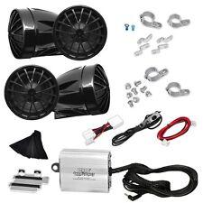 NEW Pyle PLMCA76 800W Motorcycle Mount 4Ch Amplifier 4 Speakers W/ iPod-Input