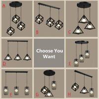 Black Pendant Light Vintage Chandelier Lighting Kitchen Lamp Bar Ceiling Lights