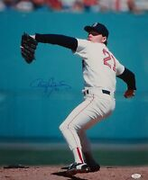 Roger Clemens Autographed 16x20 Vertical Pitching Photo- JSA W Authenticated