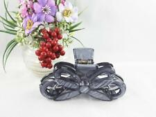 """Plastic bow 3.5"""" long barrette hair accessory clip claw clamp teeth Gray Marble"""