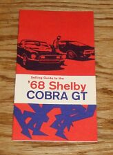 1968 Ford Shelby Cobra GT 350 500 Dealer Selling Guide Brochure 68