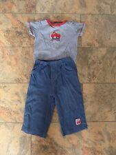 Super mignon!!! Boy's CARTER's Outfit Top & pantalon 9-12 mois Fire Engine thème