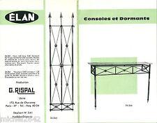 Catalogue Rispal 1960 Elan console dormant Mobilier design moderniste RARE