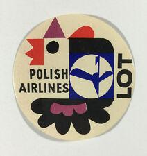 Vintage Unused Luggage Label - LOT Polish Airlines