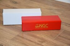 NGC RED & GOLD BRAND NEW STORAGE PLASTIC BOX EACH HOLDS 20 NGC CERTIFIED SLABS