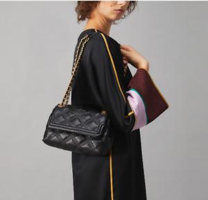 Tory Burch Fleming Small Soft Convertible Shoulder Bag Black