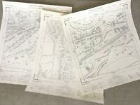 Vintage Map of Surrey Courtshill Hampshire Old Job Lot Maps