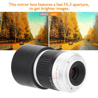 300mm f6.3 APS-C Telephoto Lenses Mirror Lens for Sony-E M4/3 Camera Mount ZZ
