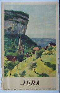 Jura Originalplakat der französischen Eisenbahngesellschaft SNCF von 1947