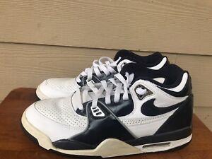 Nike Flight 89 Retro 315793-143 Men's Basketball Shoes White Blue Navy Size 10.5