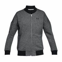 Under Armour Threadborne Fleece Bomber UK Ladies XS Grey Jacket *REF94