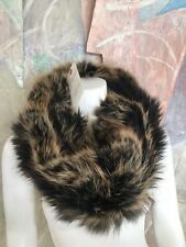 Handmade Raccoon Fur Reversible Cape Infinity Scarf Wrap
