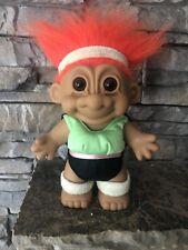 Russ Troll Doll! 7� Orange Hair Brown Eyes! Workout Girl! Keep Fit In 2020!