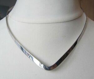 Vintage Silver Torc Collar Necklace