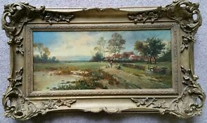 Beautiful Original Framed Landscape Painting H Pascall English French School