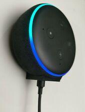 Mini Hidden Wall Bracket Mount For Echo Dot 3rd Generation 3 Gen In Black