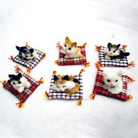 Lovely Simulation Animal Doll Plush Sleeping Cat  Kitten Kids Children Toy Gift