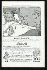 1921 Jello Jell-O dessert Rose O'Neill Kewpie baby dolls art vintage print ad